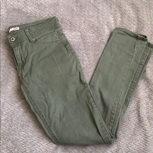 Low rise army green jeans
